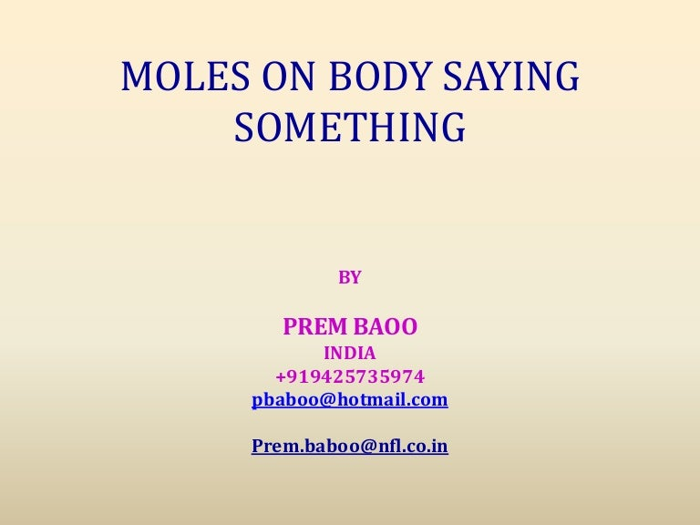 Moles on body