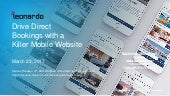 Webinar - Drive Direct Bookings with a Killer Mobile Website