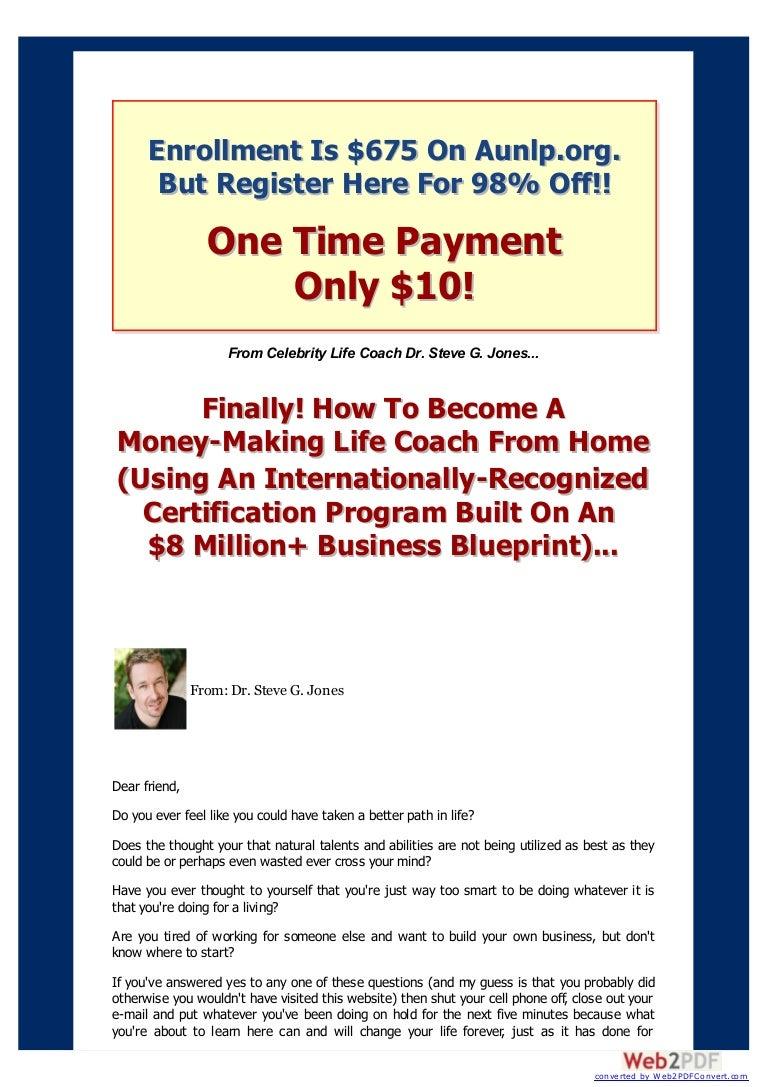 Money making life coach from home life coaching certification xflitez Choice Image