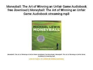Moneyball: The Art of Winning an Unfair Game Audiobook free download - Moneyball: The Art of Winning an Unfair Game Audiobook streaming mp3