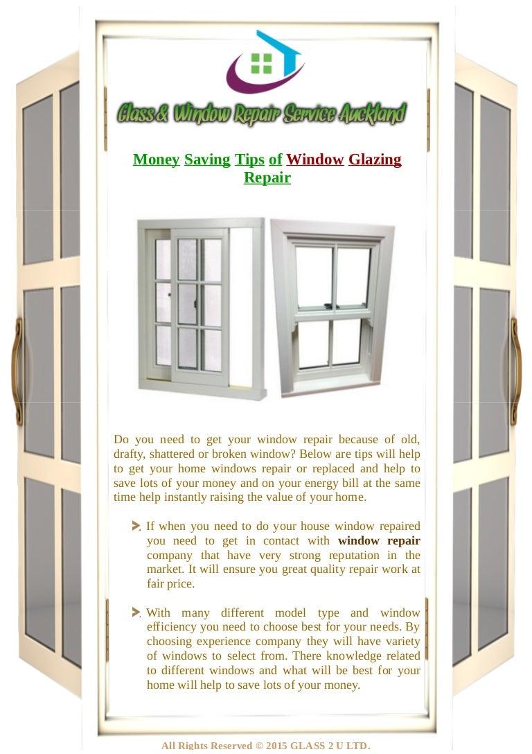 Money Saving Tips of Window Glazing Repairing