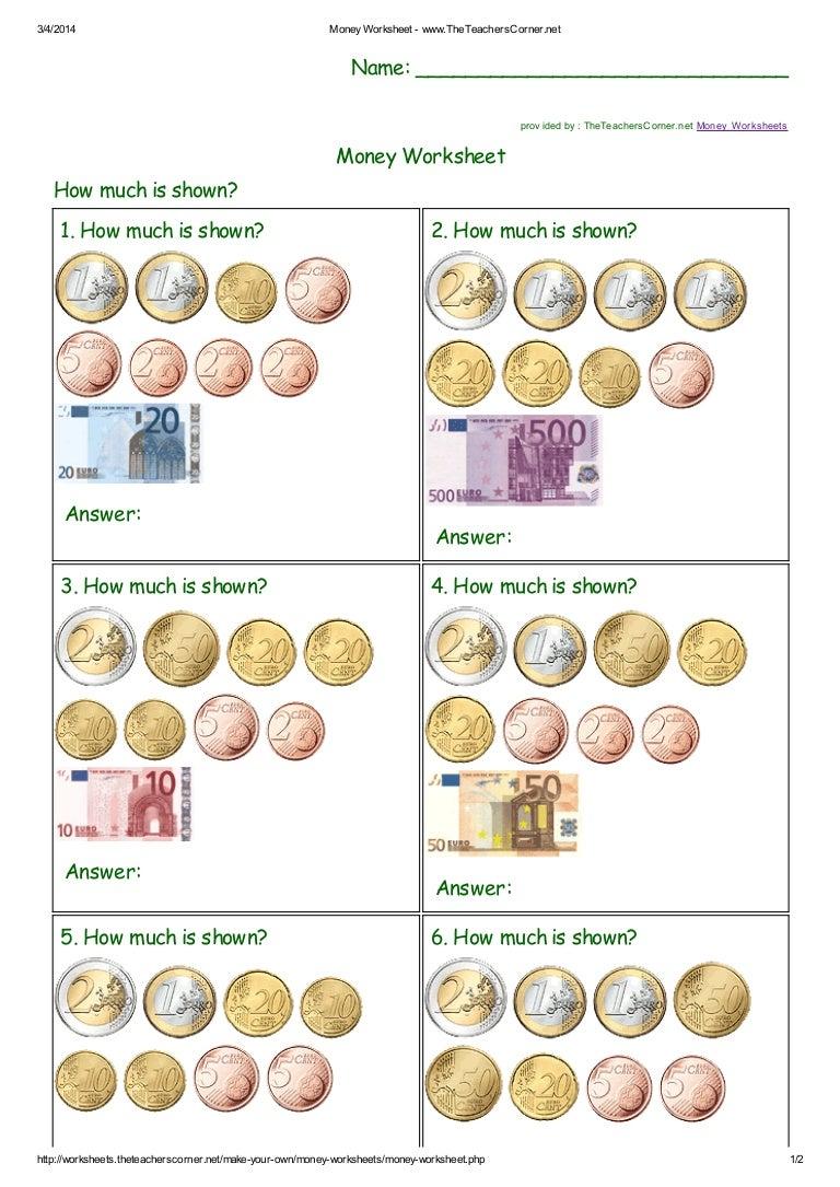 Money worksheet the teacherscorner robcynllc Choice Image