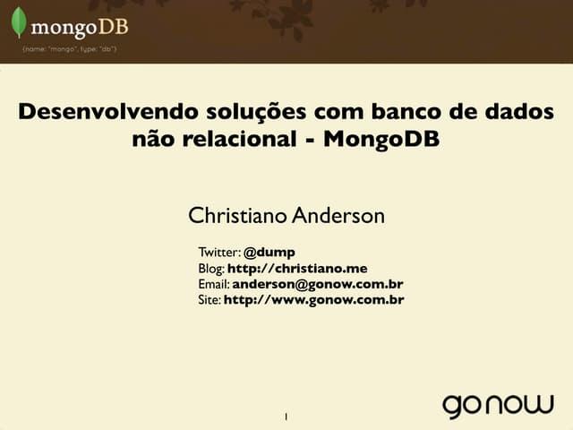 MongoDB na Campus Party