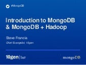 Introduction to MongoDB and Hadoop
