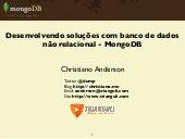 Desenvolvendo soluções com MongoDB e Python