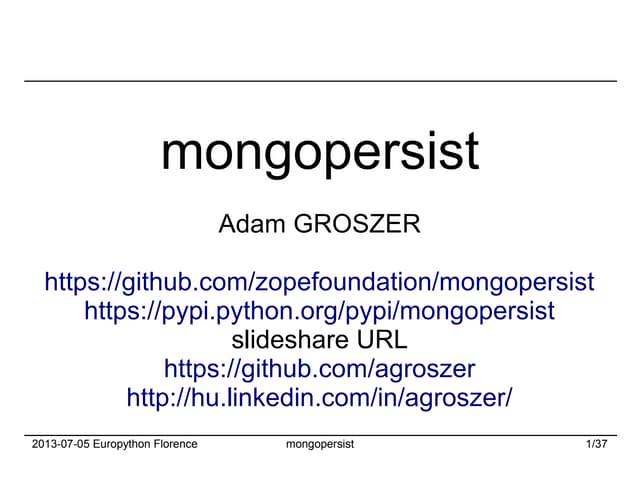 Mongopersist