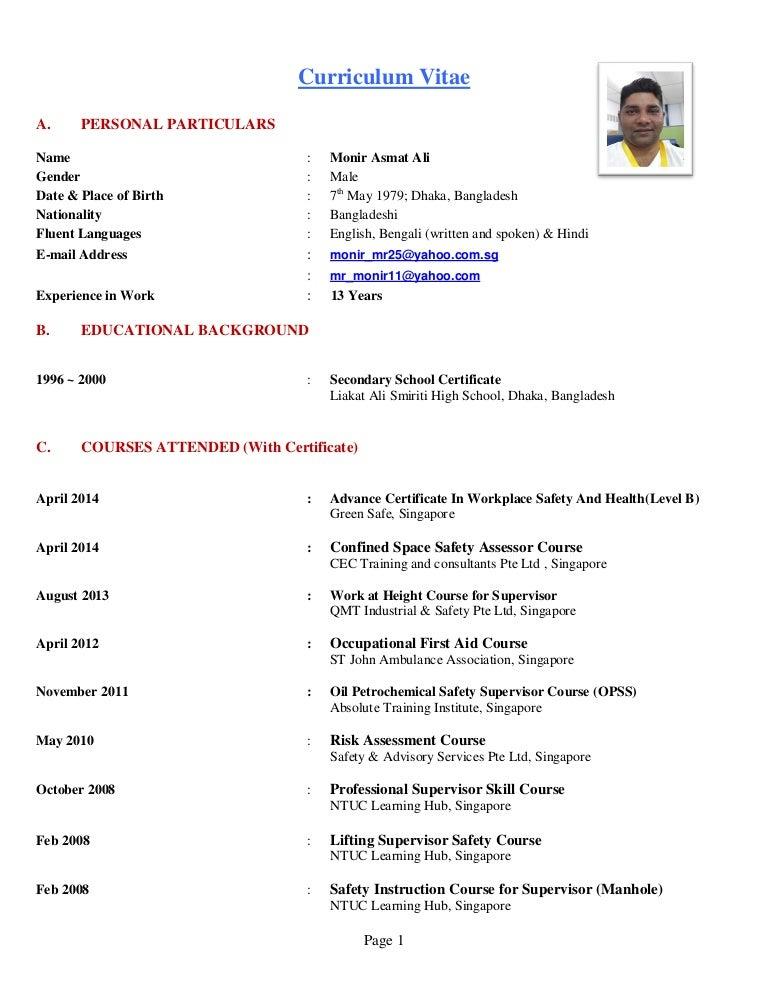 Monir resume new