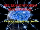 Neuromonitoreo Multimodal