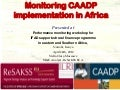 Monitoring caadp implementation in africa