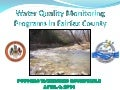 Water Quality Monitoring Programs in Fairfax County, April 2014
