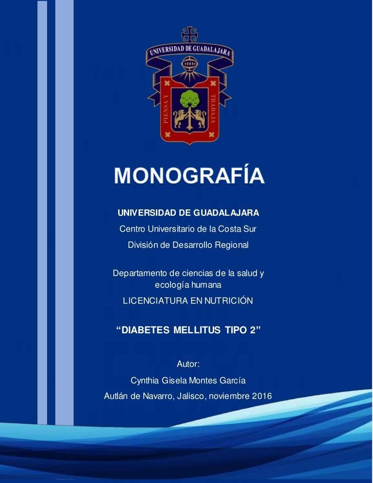 diabetes tipo 1 y 2 monografias
