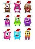 Monstruos ClassDojo en Navidad