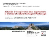 Activities of non-governmental organizations in the field of cultural heritage in Montenegro (Aleksandra Kapetanovic)