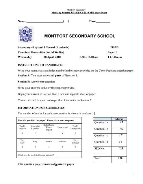 Montfort 4 e ss midyear 2010 paper