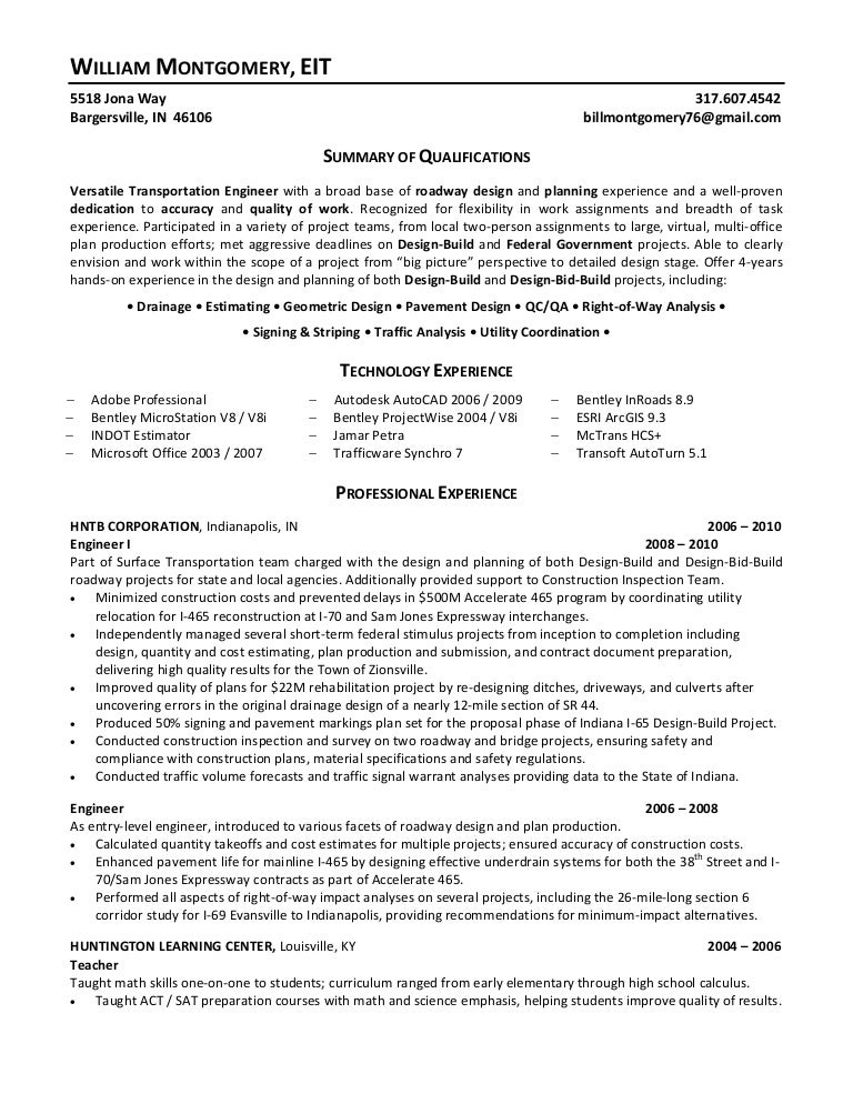 Electrical Engineer Resume Format  Eit On Resume