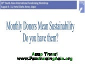 Monthly Donors Are You Doing Them