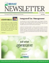 Monthly newsletter April issue