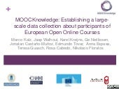 MOOCKnowledge: Establishing a large-scale data collection about participants of European Open Online Courses