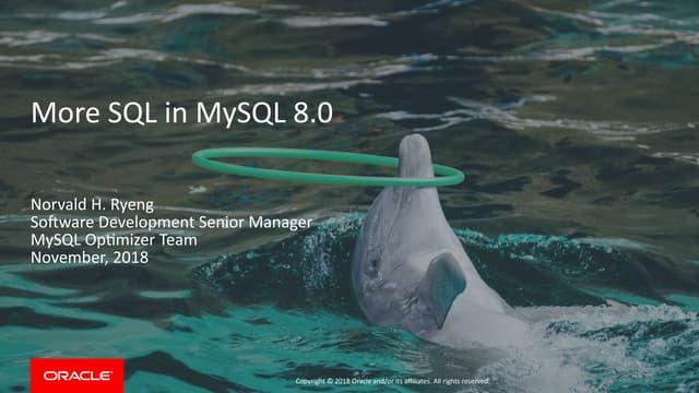 More SQL in MySQL 8.0