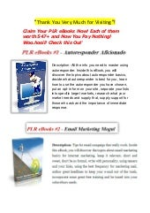 Marketing Ebooks | PLR Private Label Rights