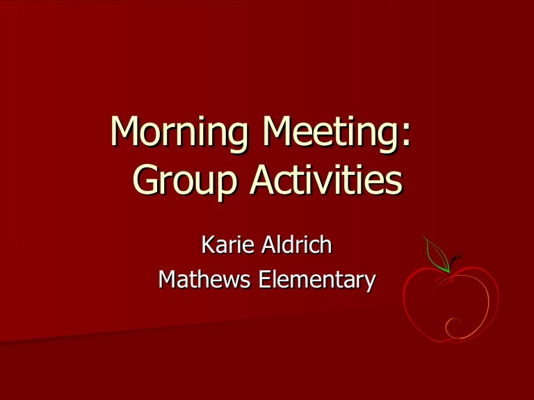 Meeting activities karie morning meeting activities karie m4hsunfo Image collections