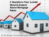 4 Questions Your Lender Should Answer about Mortgage Rates