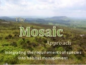 mosaic approach to landscape management. #biodiversity