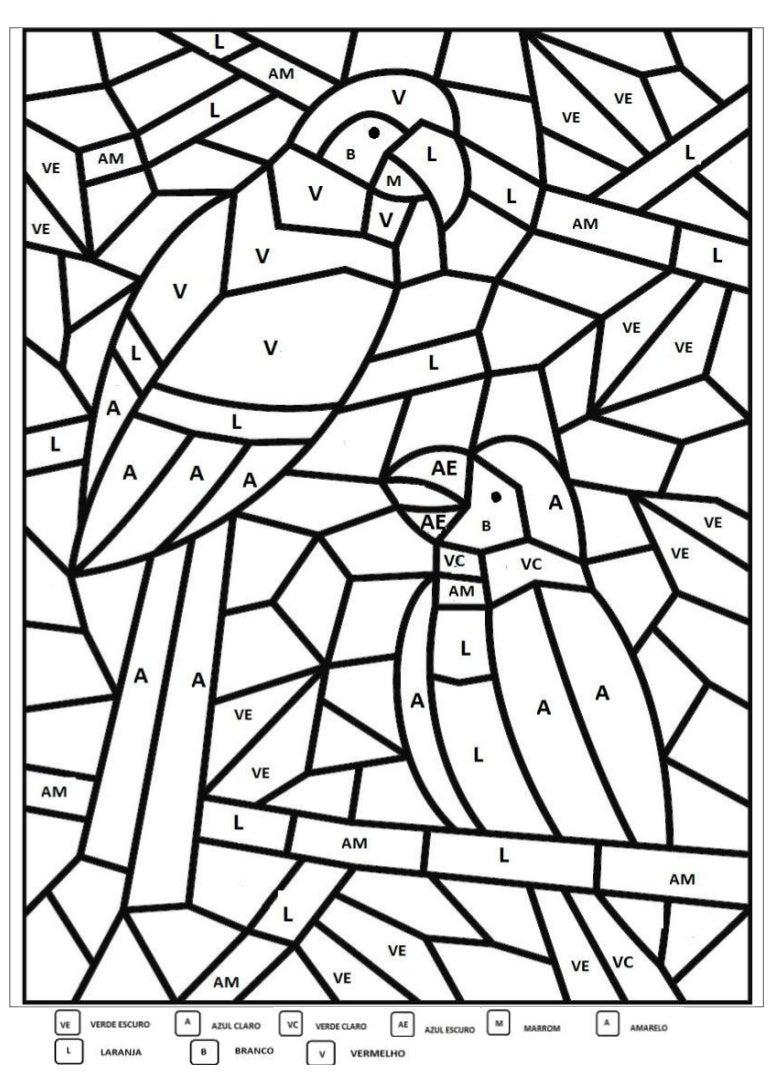 Mosaico Arara