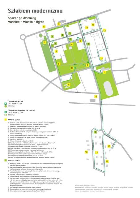 """WILLA E. KWIATKOWSKIEGO W TARNOWIE """"Szlakiem modernizmu"""" (mapa)"""