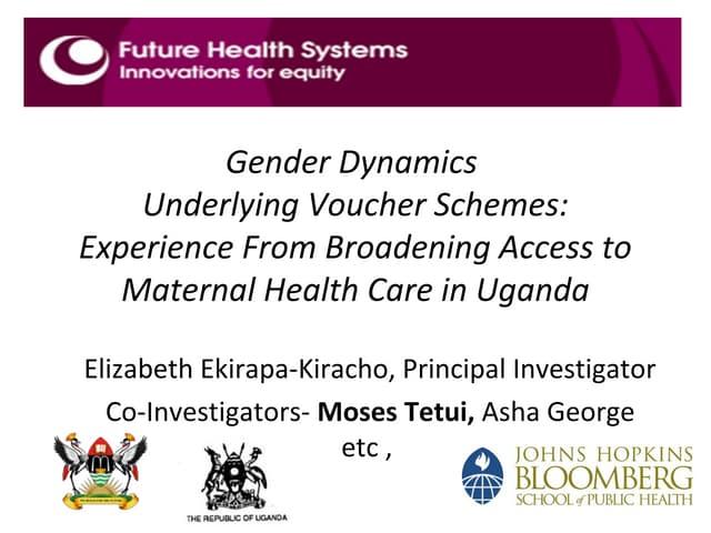 Moses Tetui on maternal health in Uganda