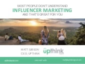 Most people don't understand influencer marketing (webinar)