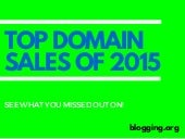 Best Selling Domain Names of 2015
