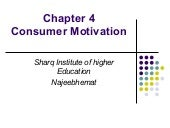 Consumer Behavior motivation  chap4