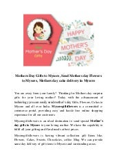 Mothers Day Gifts to Mysore, Send Mothers day Flowers to Mysore, Mothers day cake delivery in Mysore