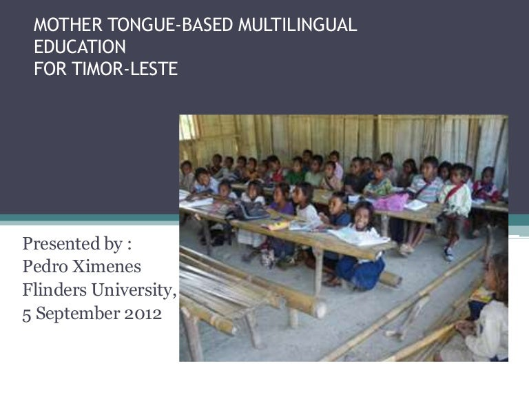Mother Tongue Based Multilingual Education 2