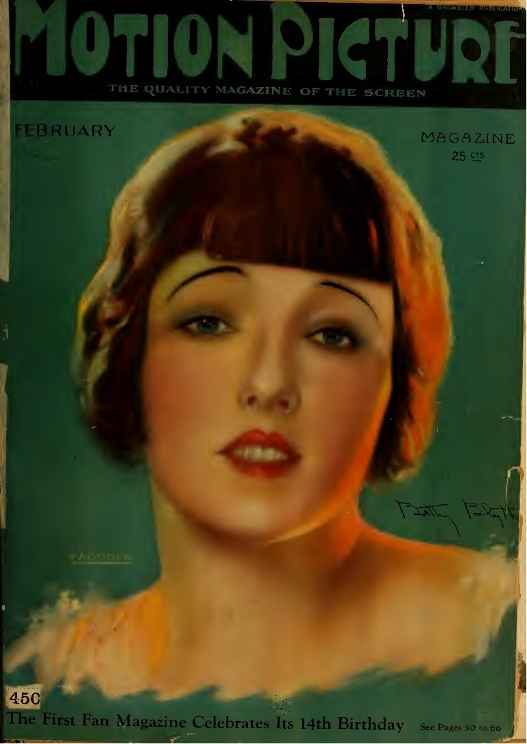 Motion Picture Magazine February 1925 No 1 Mini Kiss By Dreamcon