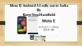 Moto e android 5.1 rolls out in india | KnowYourHandheld