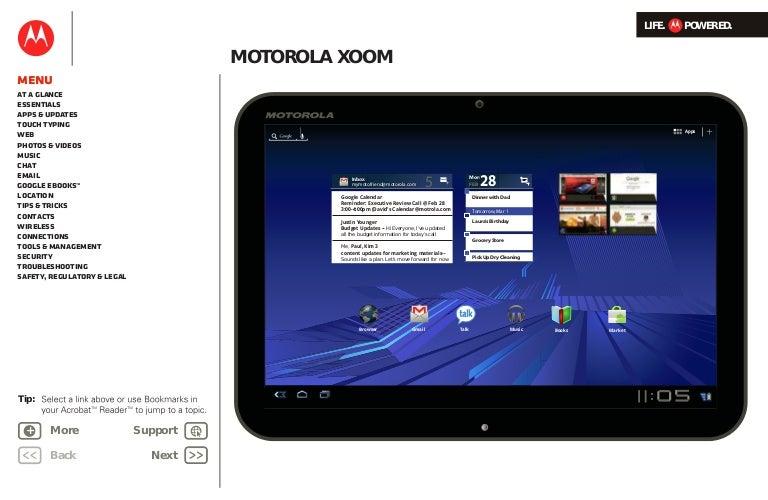 motorola xoom user guide rh slideshare net Digital 2 Tablet Manual Tablet Instruction Manual