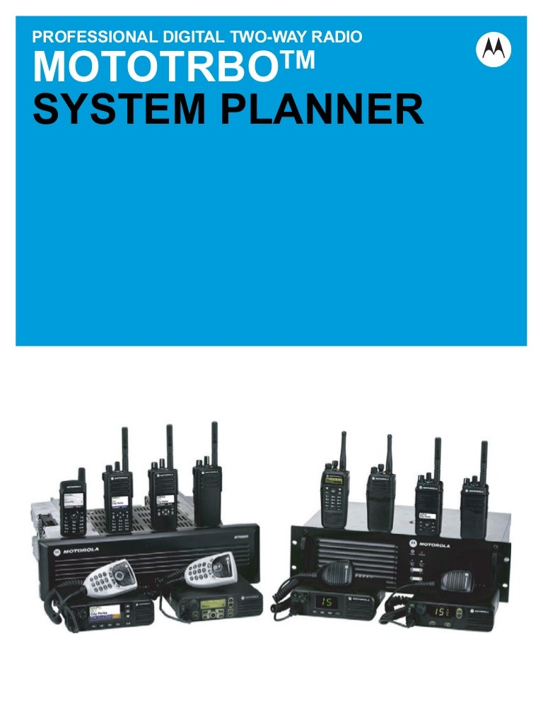 Motorola MotoTRBO System Planner