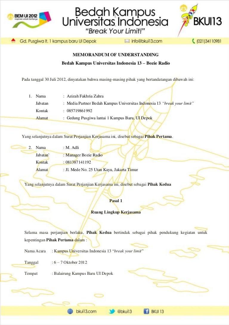 Mou Media Partner Bersama Universitas Indonesia