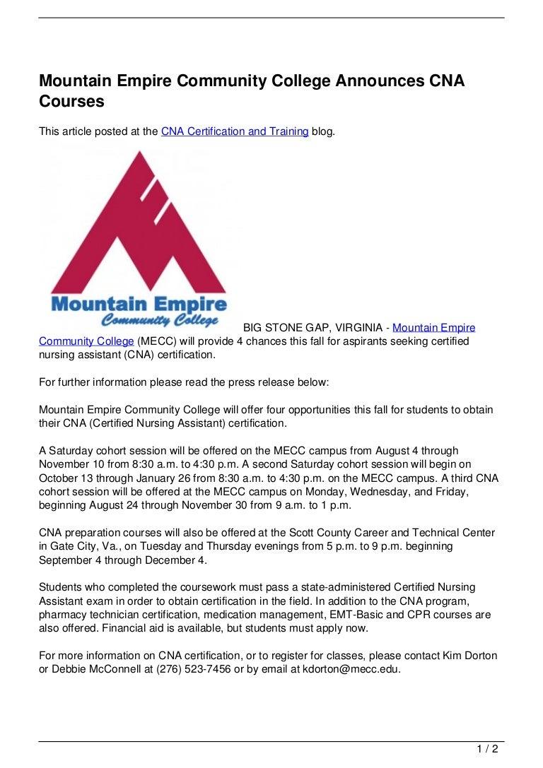 Mountain empire community college announces cna courses 120727181906 phpapp02 thumbnail 4gcb1343413162 xflitez Choice Image