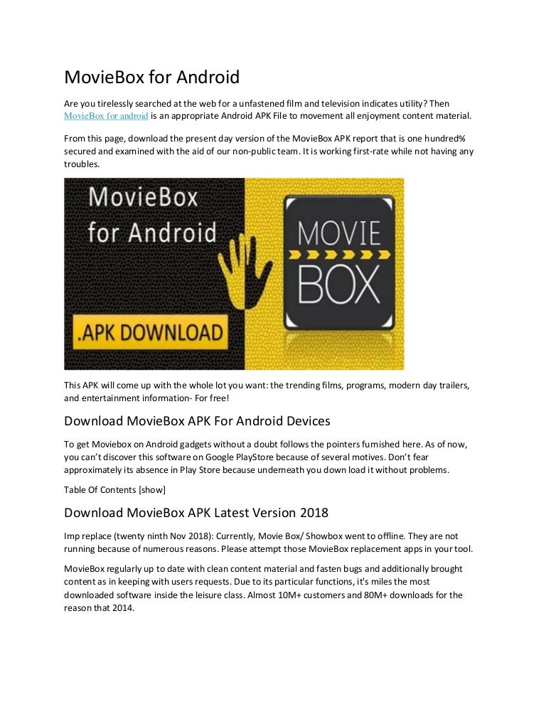 Movie Box For Android