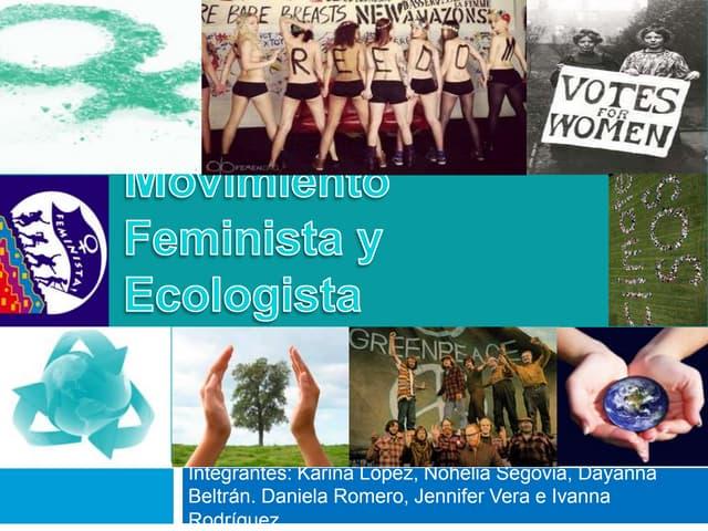 Movimiento feminista y ecologista