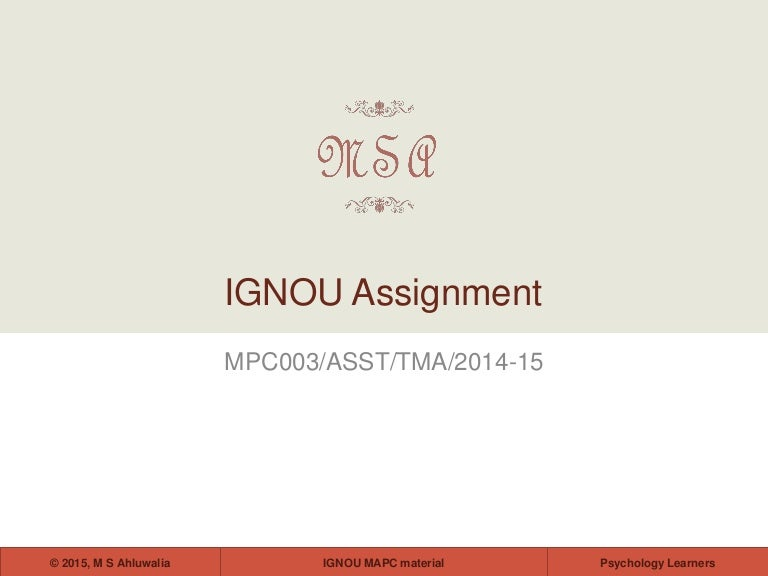 Personality theories and assessment for ignou students fandeluxe Images