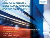 Palm oil regulation overview from Europe, October 2012