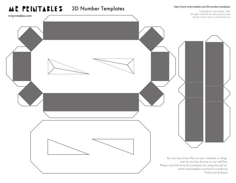 picture regarding Printable Number Templates identify Mr printables-3d-quantity-templates