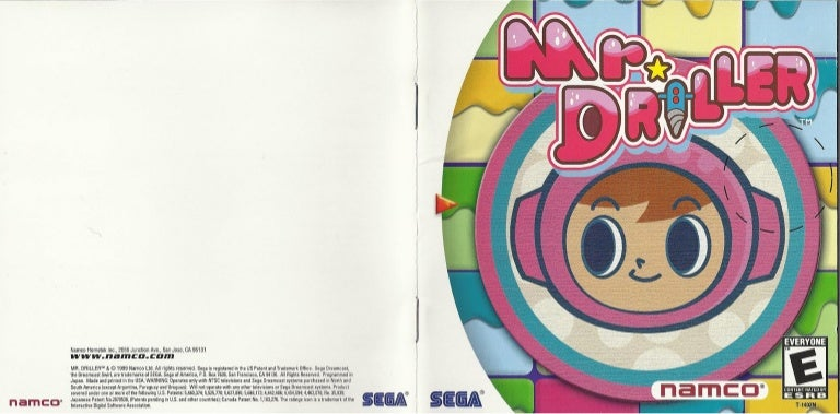 Full Manual -- Disc Driller Reproduction for Sega Dreamcast Inserts Mr Case