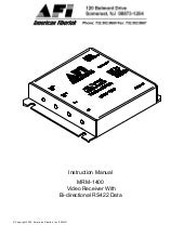 American Fibertek MRX8885C User Manual