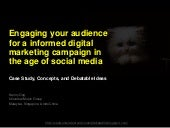 Engaging you audience for a informed digital marketing campaign in the age of social media