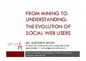 From Mining to Understanding: The Evolution of Social Web Users
